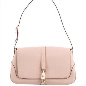 Gucci powder pink leather handbag